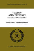 Theory and Decision: Essays in Honor of Werner Leinfellner