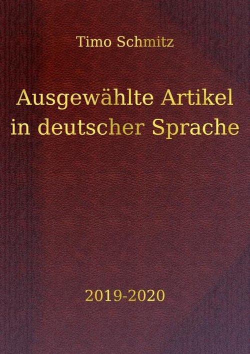 Ausgewählte Artikel in deutscher Sprache, 2019-2020 als eBook epub