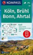KOMPASS Wanderkarte Köln, Brühl, Bonn, Ahrtal 1:50 000