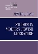 Studies in Modern Jewish Literature