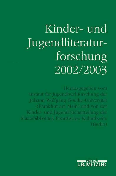 Kinder- und Jugendliteraturforschung 2002/2003 als Buch (kartoniert)