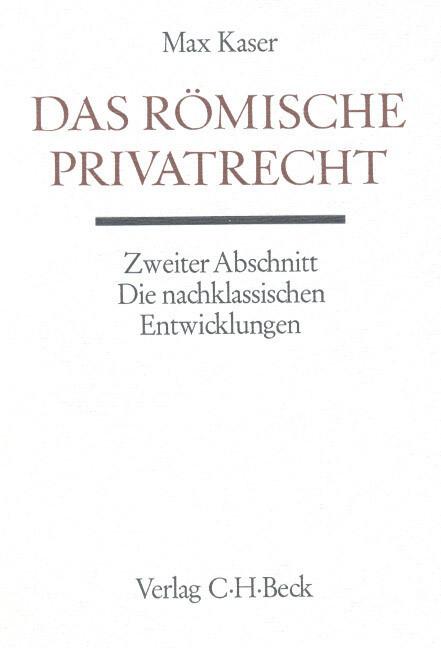 Das römische Privatrecht als Buch (gebunden)