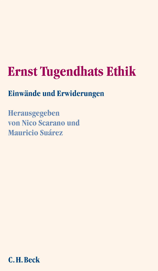Ernst Tugendhats Ethik als Buch (kartoniert)