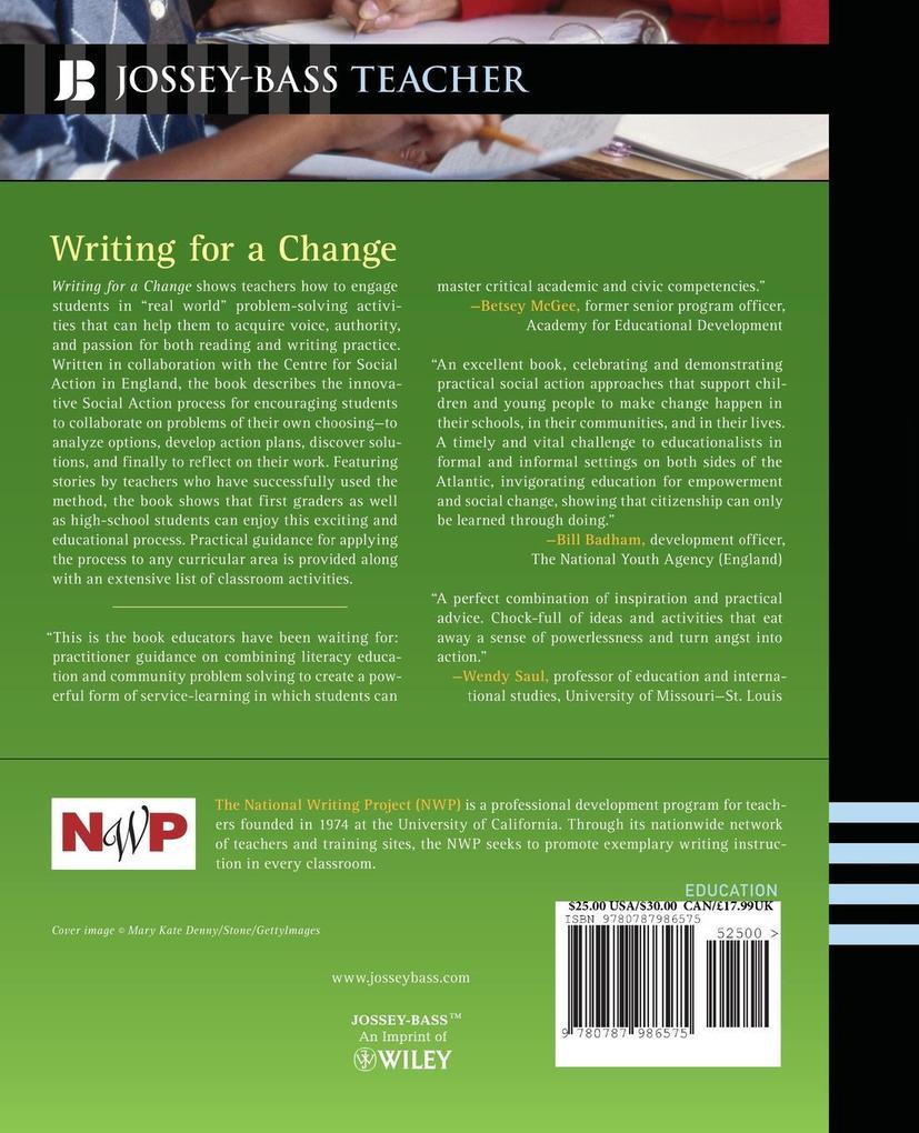 Writing for a Change als Taschenbuch