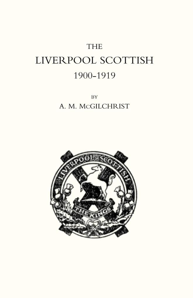 Liverpool Scottish 1900-1919 als Taschenbuch