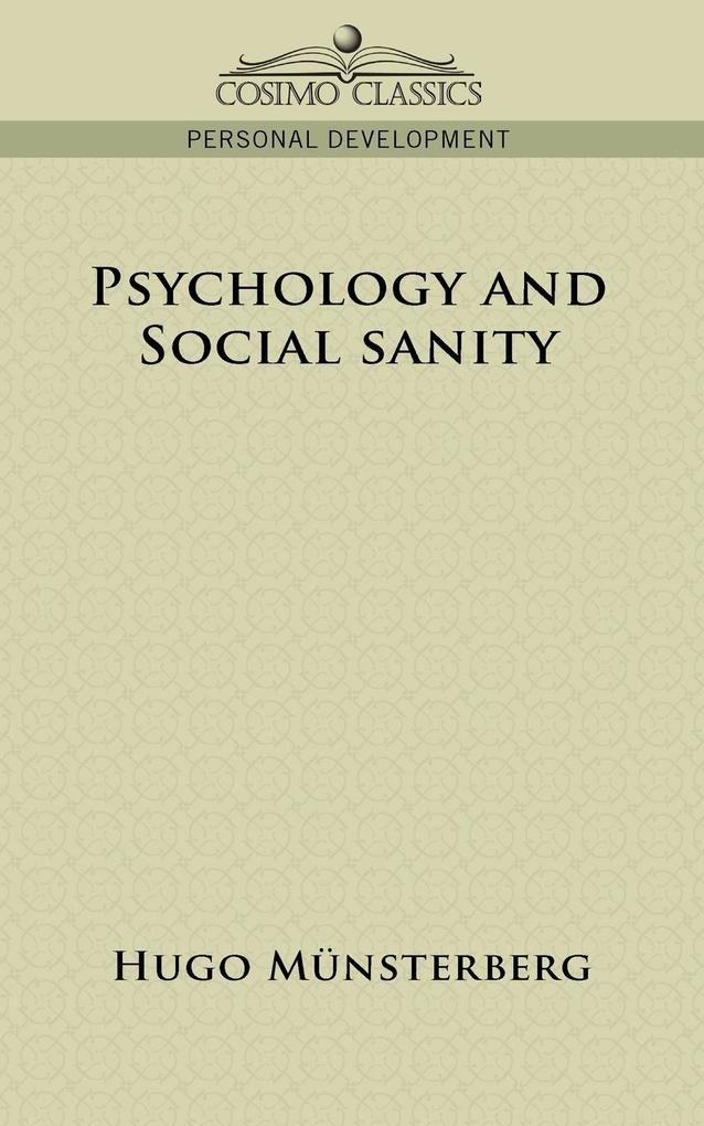 Psychology and Social Sanity als Taschenbuch