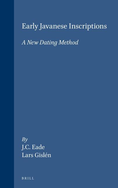 Early Javanese Inscriptions: A New Dating Method als Buch (gebunden)