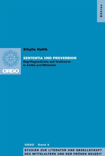 Sententia und proverbium als Buch (kartoniert)