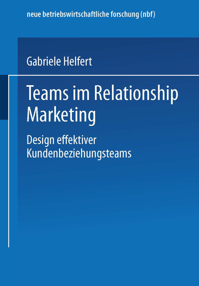 Teams im Relationship Marketing als Buch (kartoniert)