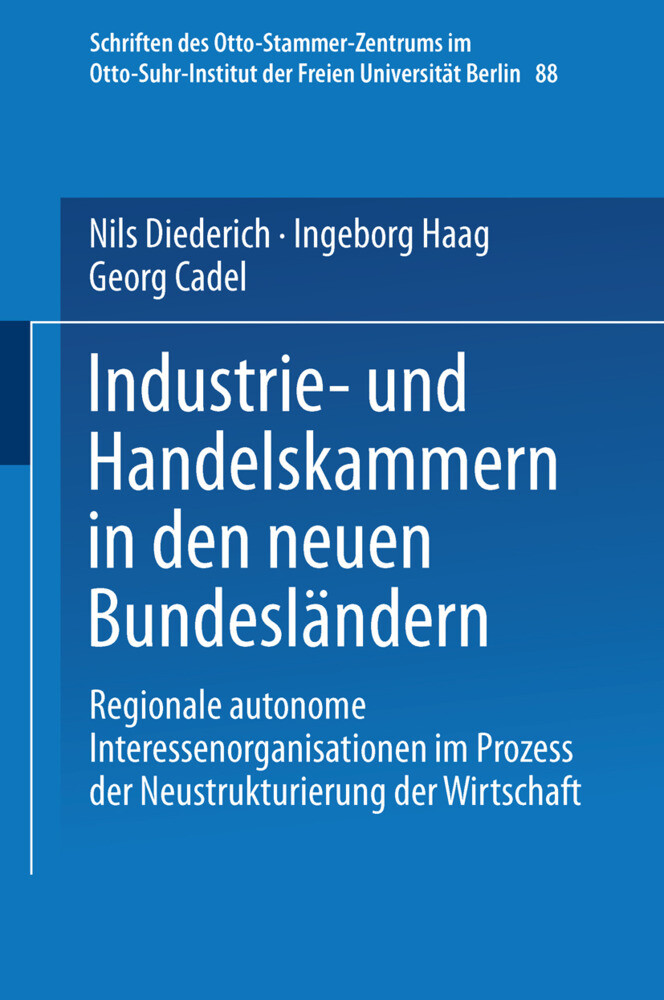 Industrie- und Handelskammern in den neuen Bundesländern als Buch (kartoniert)