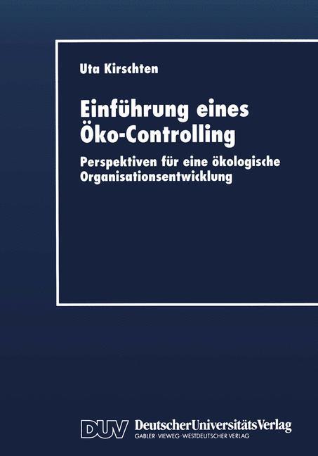 Einführung eines Öko-Controlling als Buch (kartoniert)