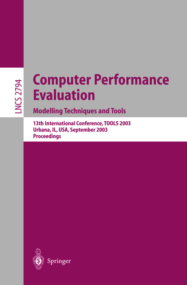 Computer Performance Evaluation. Modelling Techniques and Tools als Buch (gebunden)