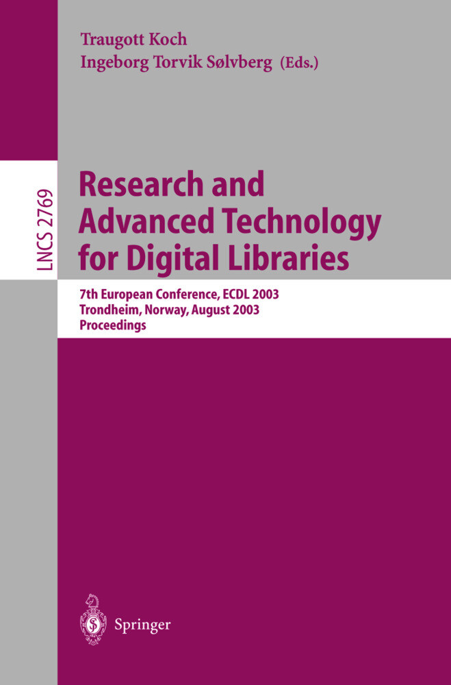 Research and Advanced Technology for Digital Libraries als Buch (gebunden)