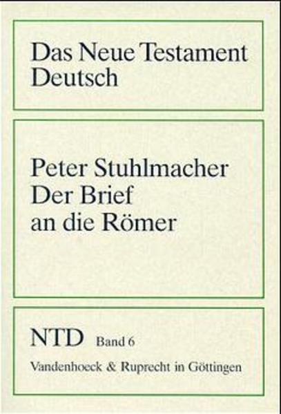 Der Brief an die Römer als Buch (kartoniert)