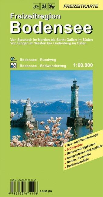 GeoMap Karte Freizeitregion Bodensee als Blätter und Karten