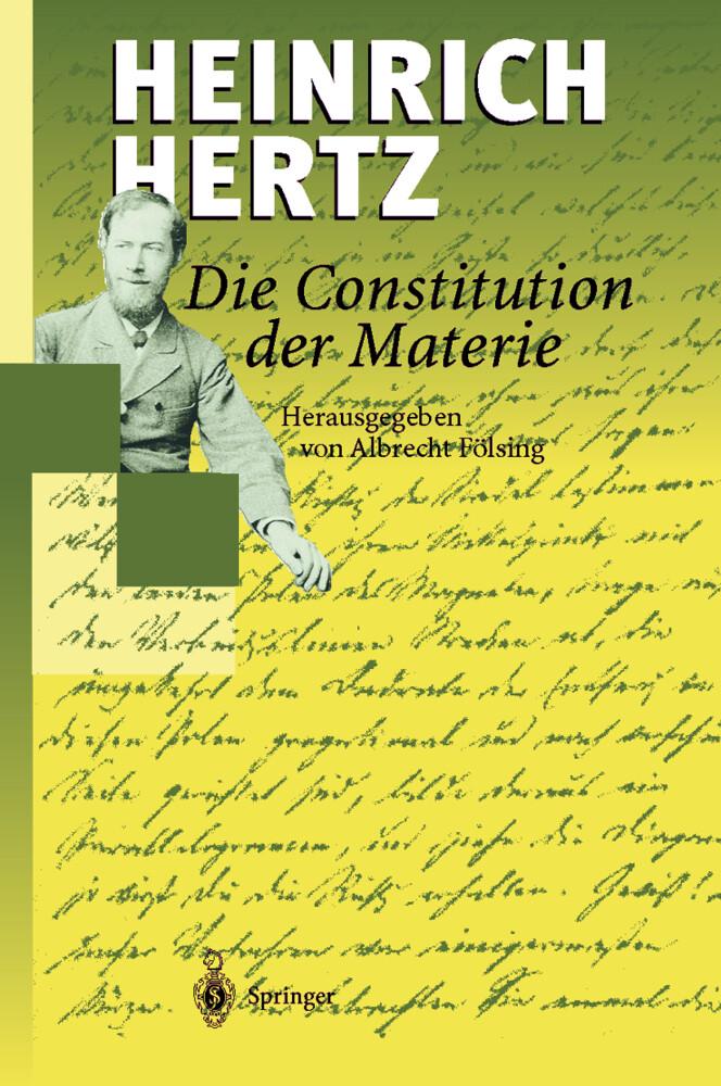 Die Constitution der Materie als Buch (gebunden)