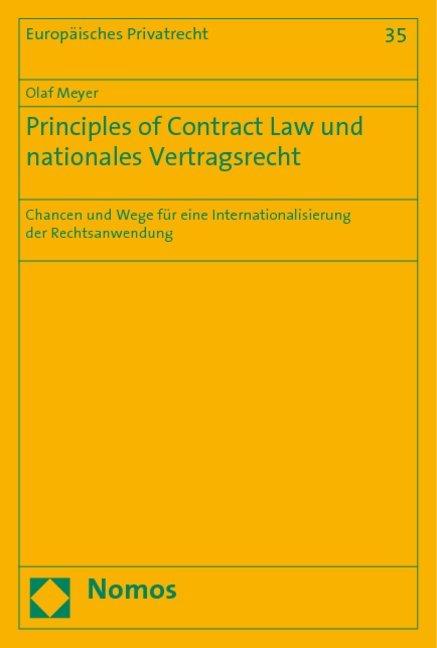 Principles of Contract Law und nationales Vertragsrecht als Buch (kartoniert)
