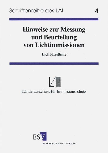 Hinweise zur Messung, Beurteilung von Lichtimmissionen als Buch (kartoniert)