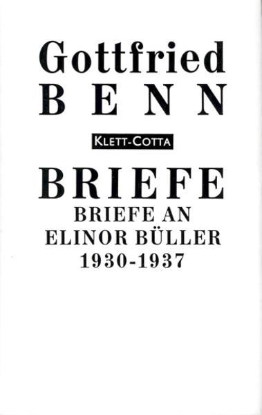 Briefe an Elinor Büller 1930-1937 als Buch