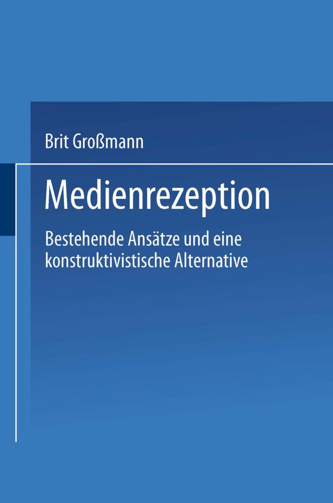 Medienrezeption als Buch (gebunden)