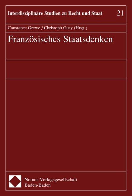Französisches Staatsdenken als Buch (kartoniert)