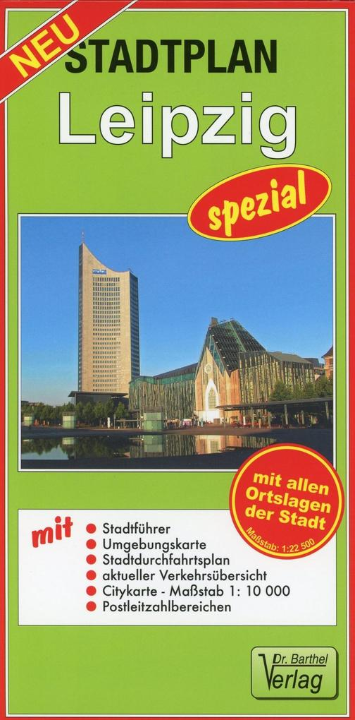 Stadtplan Leipzig - spezial 1 : 22 500 als Blätter und Karten