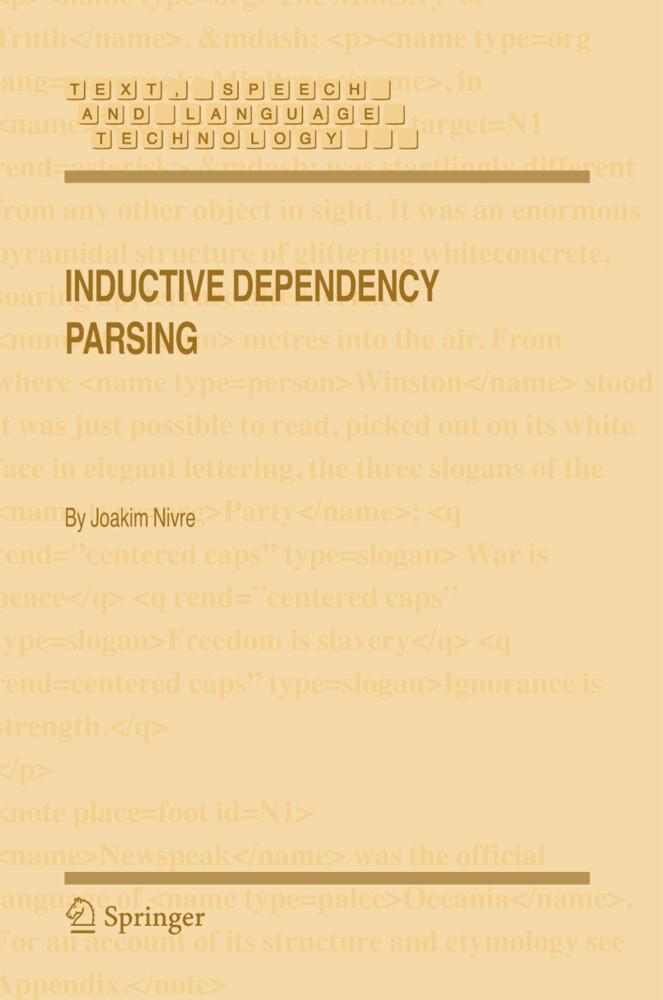 Inductive Dependency Parsing als Buch (gebunden)