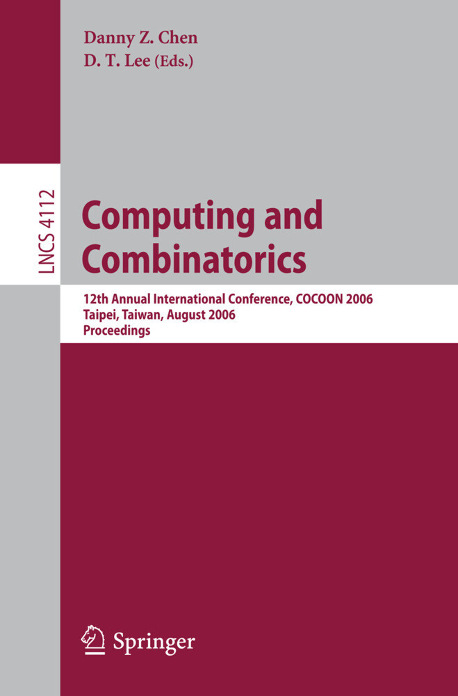 Computing and Combinatorics als Buch (gebunden)