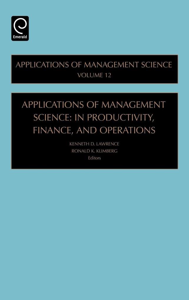 Applications of Management Science als Buch (gebunden)