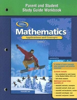 Mathematics: Applications and Concepts, Course 2, Parent and Student Study Guide Workbook als Taschenbuch