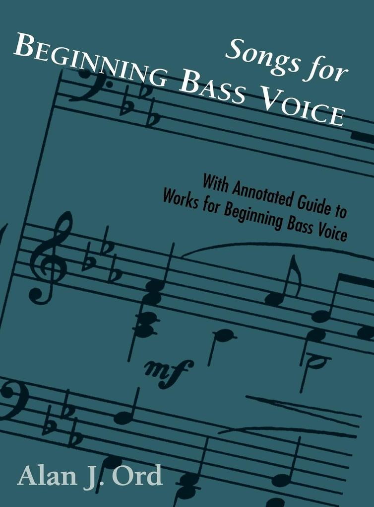 Songs for Beginning Bass Voice als Buch (gebunden)