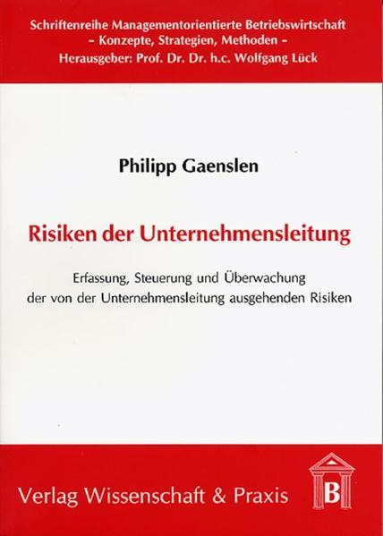Risiken der Unternehmensleitung als Buch (kartoniert)