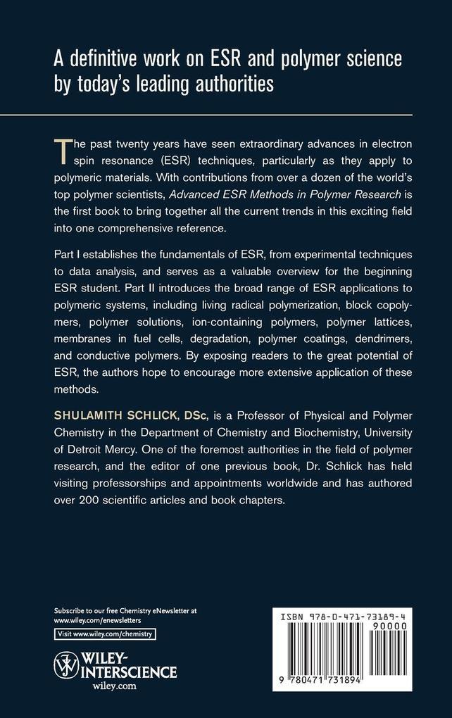 ESR Methods in Polymer Research als Buch (gebunden)