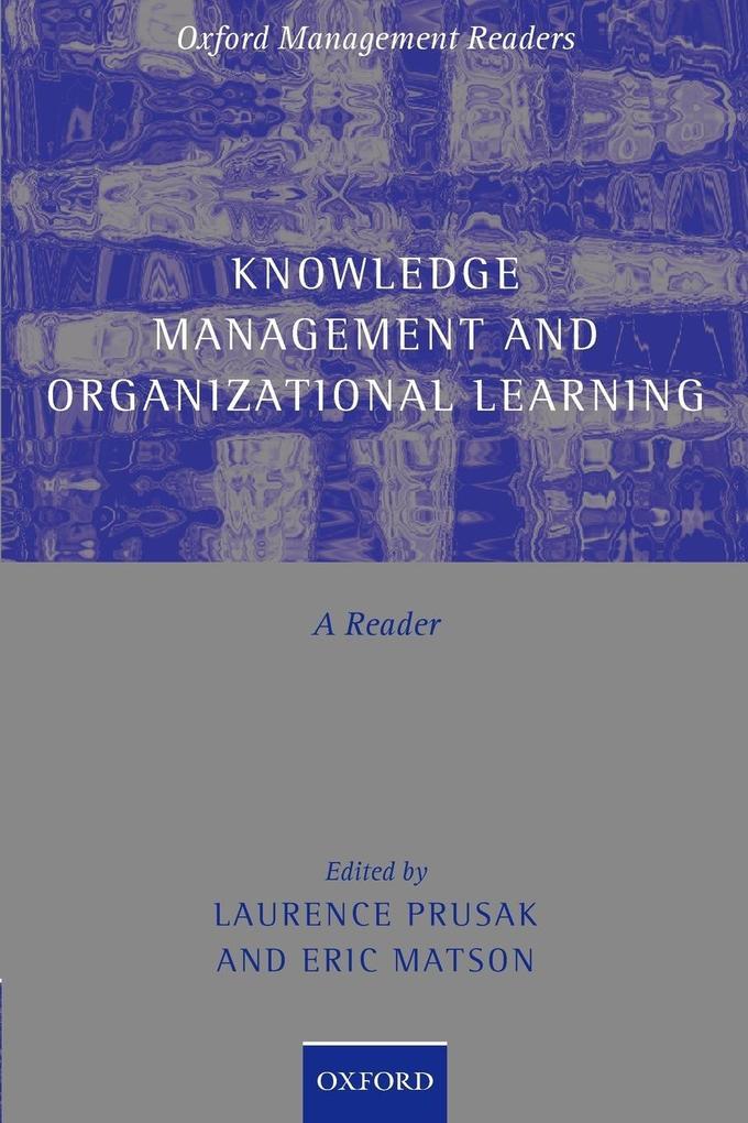 Knowledge Management and Organizational Learning als Taschenbuch