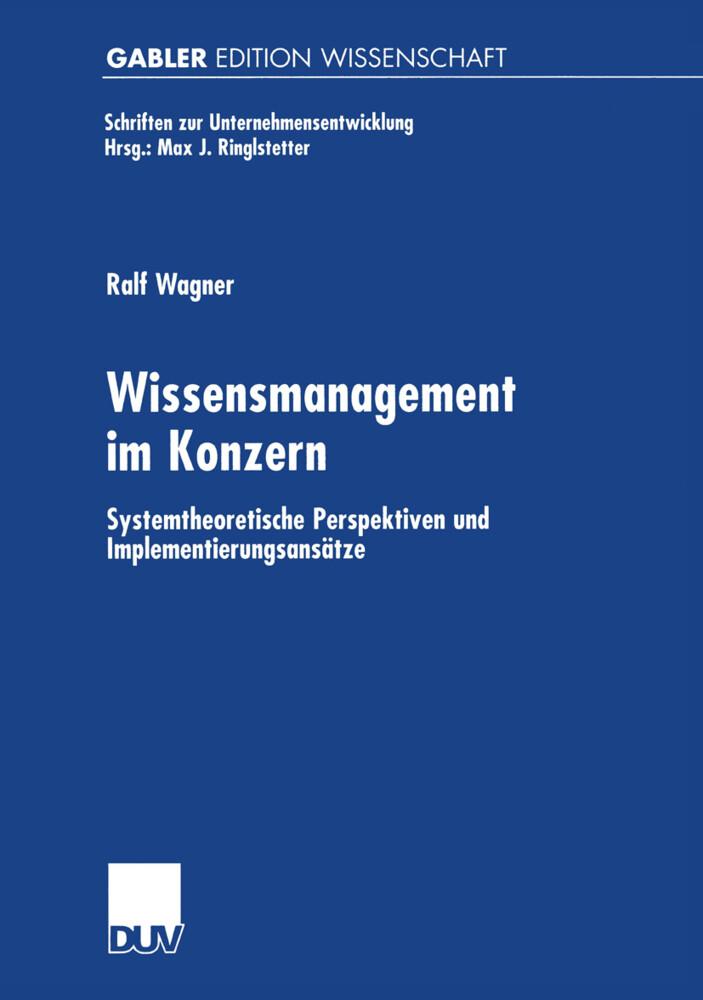 Wissensmanagement im Konzern als Buch (kartoniert)