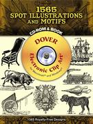 1565 Spot Illustrations and Motifs [With CDROM]