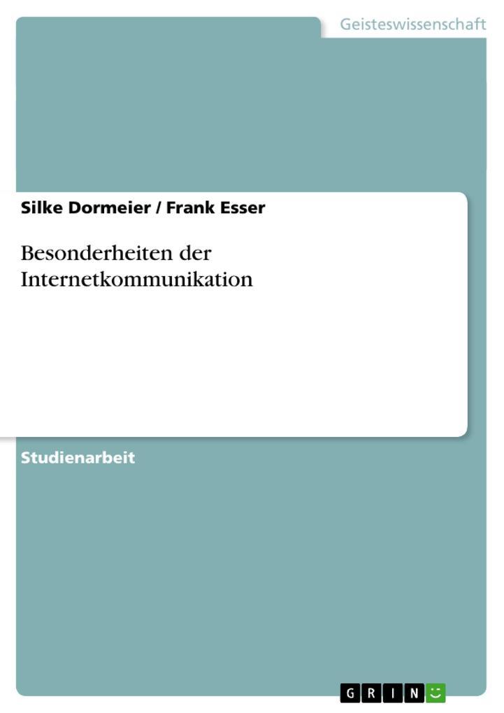 Besonderheiten der Internetkommunikation als Buch (kartoniert)
