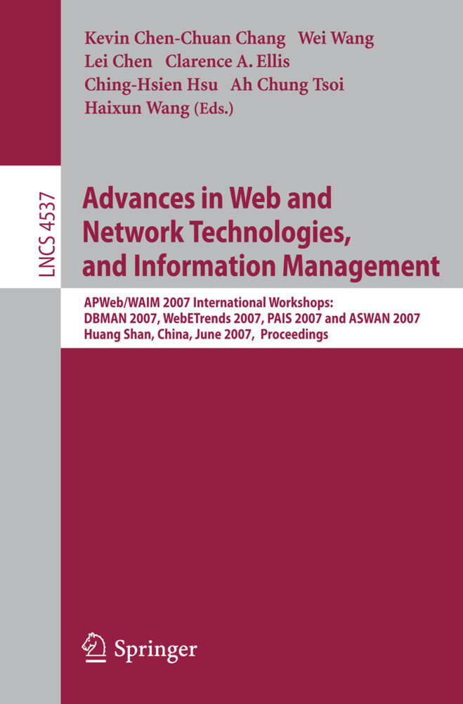 Advances in Web and Network Technologies, and Information Management als Buch (kartoniert)