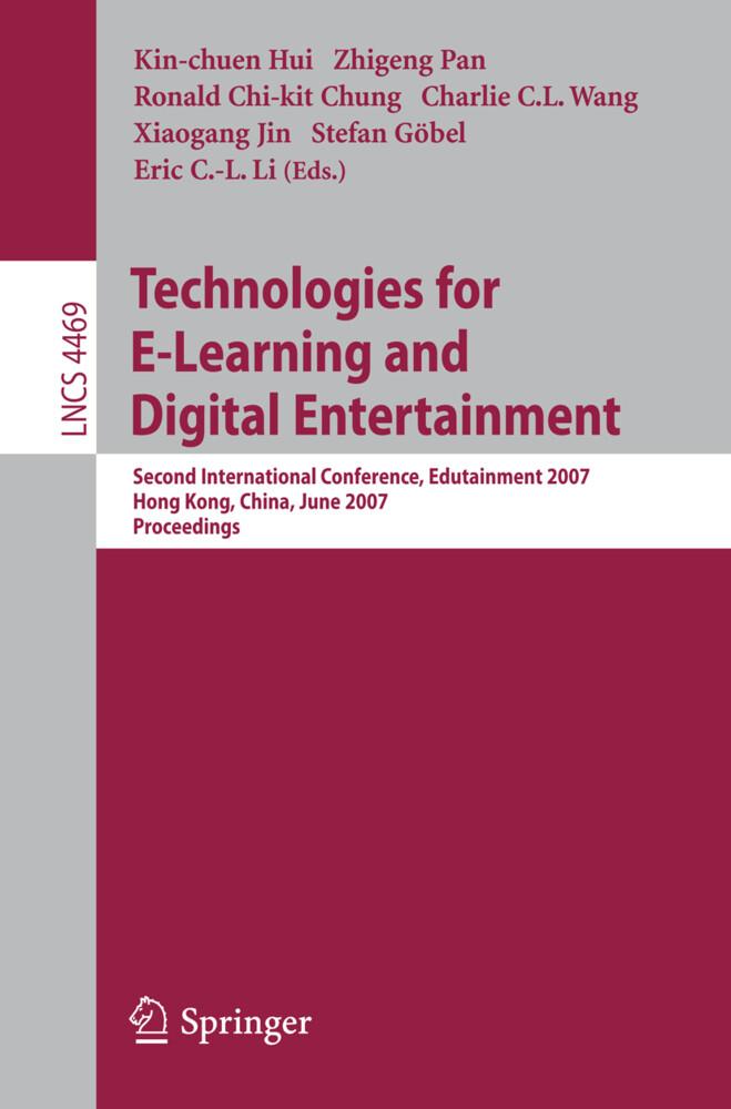 Technologies for E-Learning and Digital Entertainment als Buch (kartoniert)