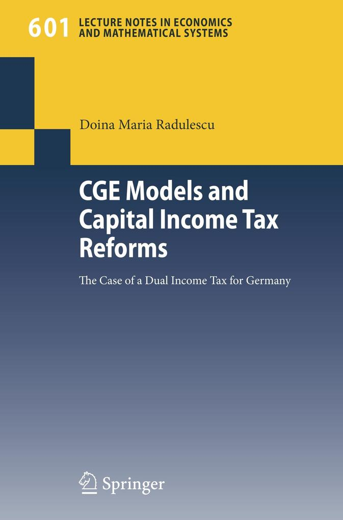 CGE Models and Capital Income Tax Reforms als Buch (kartoniert)