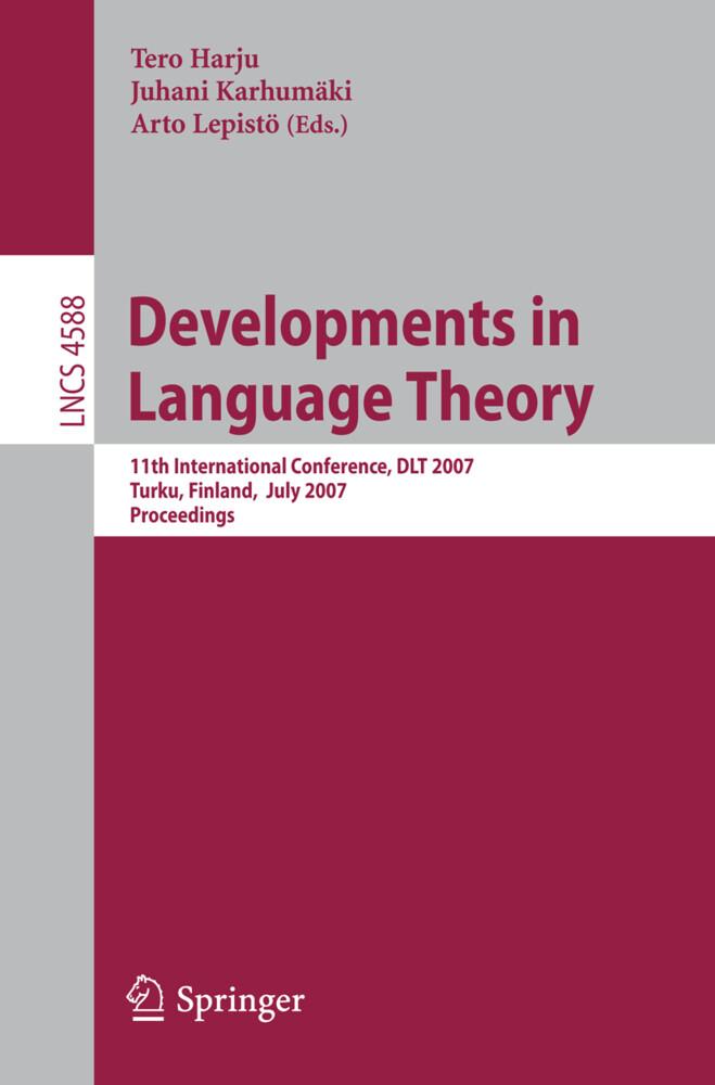 Developments in Language Theory als Buch (kartoniert)