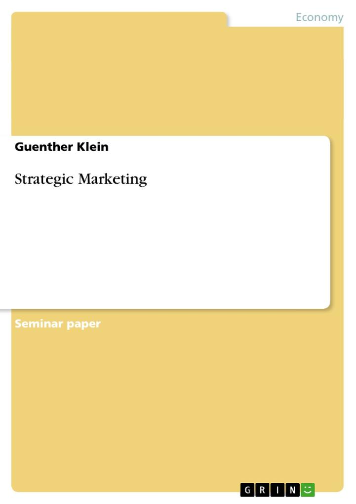 Strategic Marketing als Buch (kartoniert)