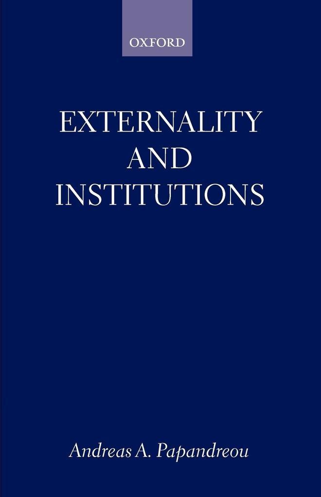 Externality and Institutions als Taschenbuch
