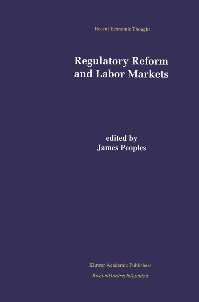 Regulatory Reform and Labor Markets als Buch (gebunden)