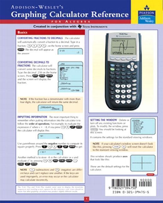 Graphing Calculator Reference Card als Sonstiger Artikel