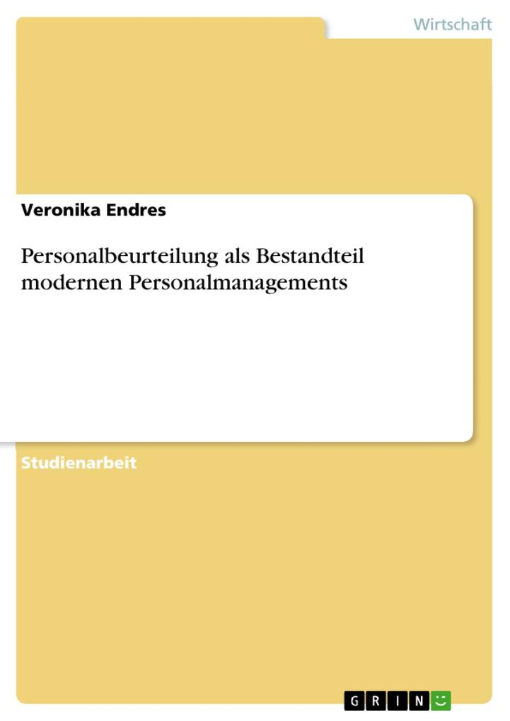 Personalbeurteilung als Bestandteil modernen Personalmanagements als Buch (kartoniert)