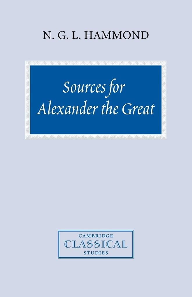 Sources for Alexander the Great als Taschenbuch