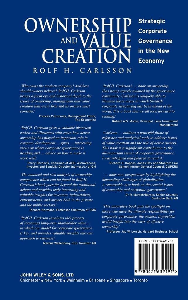 Ownership and Value Creation als Buch (gebunden)