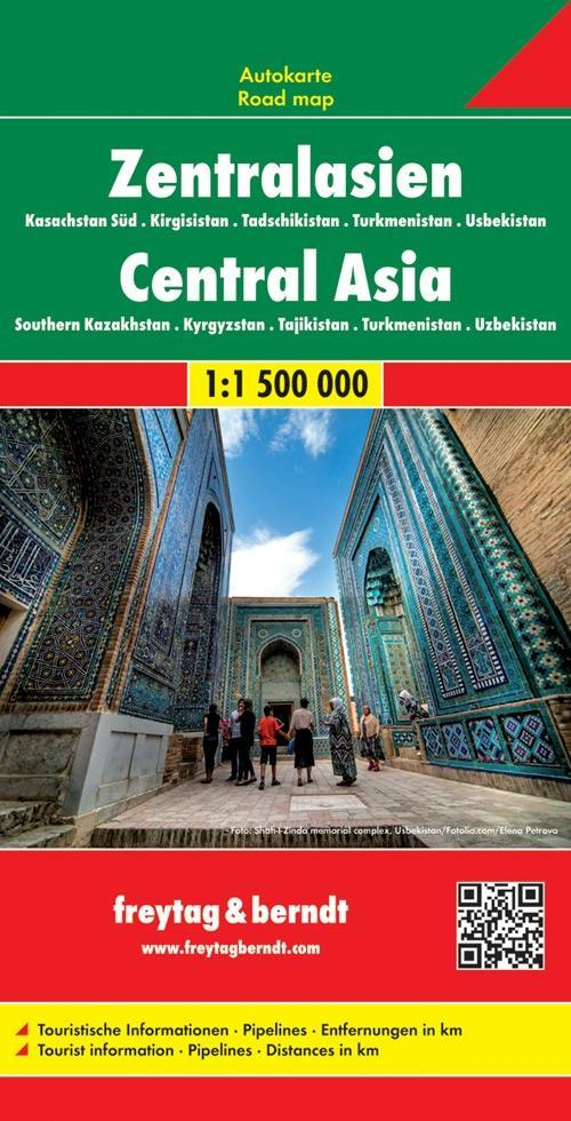 Zentralasien - Kasachstan Süd - Kirgisistan - Tadschikistan -Turkmenistan - Usbekistan 1 : 1.500.000 Autokarte als Blätter und Karten