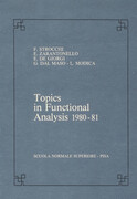 Topics in Functional Analysis 1980-81